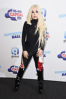 LONDON, UK. June 08, 2019: Ava Max poses on the media line before performing at the Summertime Ball 2019 at Wembley Arena, London<br /> Picture: Steve Vas/Featureflash