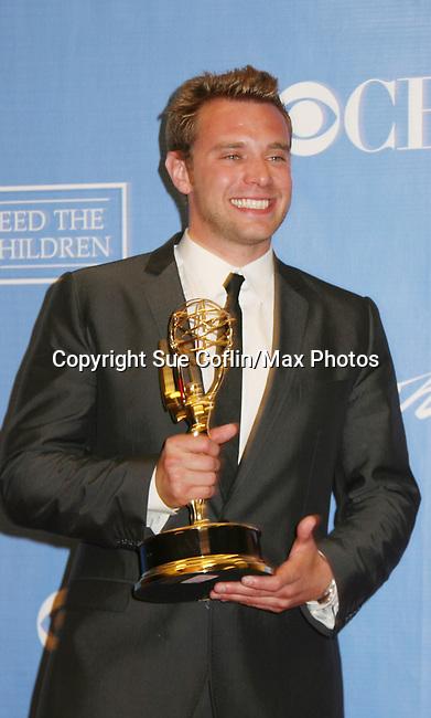 Billy Miller wins Emmy - Press Room - 37th Annual Daytime Emmy Awards on June 27, 2010 at Las Vegas Hilton, Las Vegas, Nevada, USA. (Photo by Sue Coflin/Max Photos)