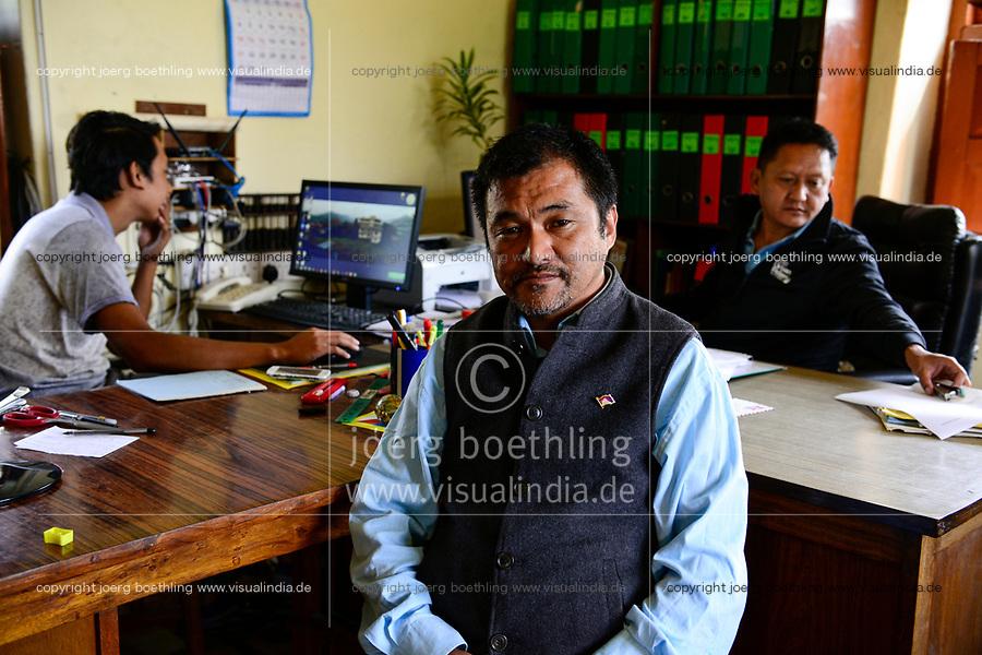 NEPAL Pokhara, tibetische Fluechtlinge, Lodrik Welfare Fund, chairman Tsultrim Gyatso