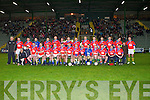 The Sigerson Cup team who played the IT Tralee team in a charity match at Austin Stack park, Tralee on Friday.