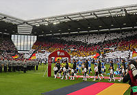 Einlauf der Deutschen Mannschaft - 11.06.2019: Deutschland vs. Estland, OPEL Arena Mainz, EM-Qualifikation DISCLAIMER: DFB regulations prohibit any use of photographs as image sequences and/or quasi-video.