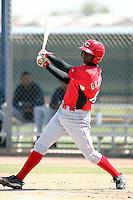 Gregorios Mariekson, Cincinnati Reds minor league spring training..Photo by:  Bill Mitchell/Four Seam Images.