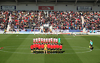 The teams observe a Rememberance Day silence before the game<br /> <br /> Photographer Mick Walker/CameraSport<br /> <br /> The EFL Sky Bet League One - Doncaster Rovers v Rotherham United - Saturday 11th November 2017 - Keepmoat Stadium - Doncaster<br /> <br /> World Copyright &copy; 2017 CameraSport. All rights reserved. 43 Linden Ave. Countesthorpe. Leicester. England. LE8 5PG - Tel: +44 (0) 116 277 4147 - admin@camerasport.com - www.camerasport.com