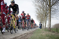 Greg Van Avermaet (BEL/BMC) in the peloton during the 2nd passage Haaghoek<br /> <br /> 72nd Omloop Het Nieuwsblad 2017