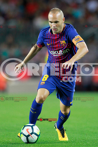 FC Barcelona's Andres Iniesta during Joan Gamper Trophy. August 7,2017. (ALTERPHOTOS/Acero) /NortePhoto.com