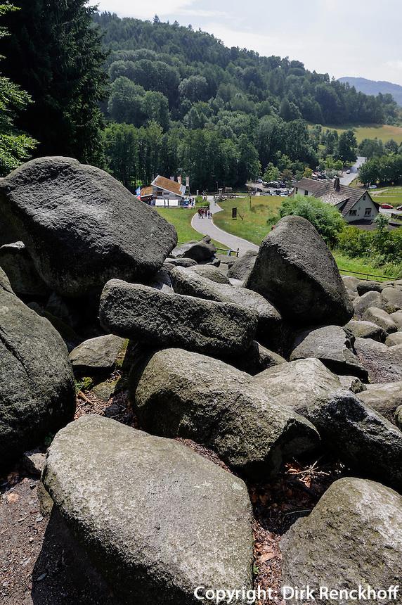 Felsenmeer bei Lautertal-Reichenbach im Odenwald, Hessen, Deutschland