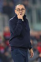Maurizio Sarri coach of Juventus looks on<br /> Roma 07-12-2019 Stadio Olimpico <br /> Football Serie A 2019/2020 <br /> SS Lazio - Juventus FC<br /> Photo Cesare Purini / Insidefoto