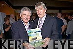 At the very successful book launch of 'Around Kells Bay' by Pat Lynch in Caiteen Baiters Pub in Kells on Saturday night last were l-r; Mick O'Dwyer & Pat Lynch(Author).
