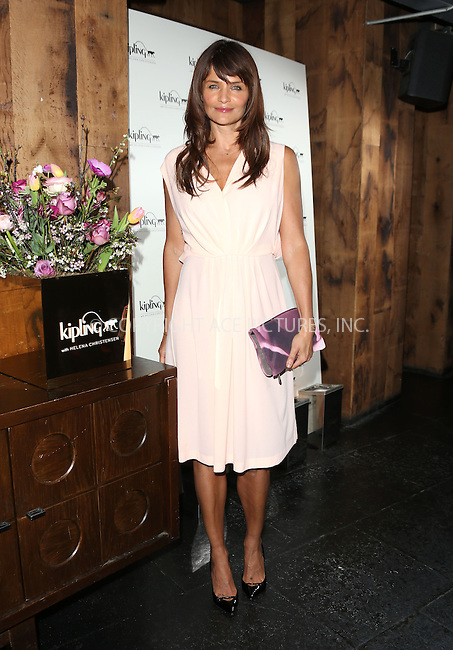 WWW.ACEPIXS.COM....US Sales Only....April 4 2013, New York City....Helena Christensen at the launch of her bag collection for Kipling X held at Beach Blanket Babylon on April 4 2014  in London ....By Line: Famous/ACE Pictures......ACE Pictures, Inc...tel: 646 769 0430..Email: info@acepixs.com..www.acepixs.com