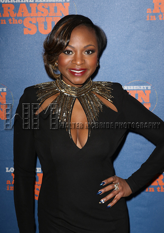 Naturi Naughton attending the Broadway Opening Night Performance of 'A Raisin In The Sun'  at the Barrymore Theatre on April 3, 2014 in New York City.