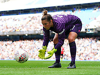 20190907 – MANCHESTER, ENGLAND: Manchester United's goal keeper Mary Earps is pictured during the match between Manchester City Women and Manchester United Women, first game for both of the teams in the Barclays FA Women's Super League , Saturday  7th September 2019 at the Ethiad Stadium, Manchester. PHOTO SPORTPIX.BE | Sevil Oktem