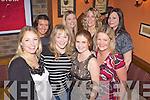 Abbeyfeale girls enjoying a Christmas night out in Leen's Hotel, Abbeyfeale last Friday night. F l-r: Maria Woulfe, Aishling McCoy, Suzanne Quille, Emenski O'Connor. B l-r: Julette Murphy, Niamh Prendiville, Una Ward and Christine Lane.