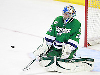 Mercyhurst goalie Max Strang. (Photo by Michelle Bishop) .