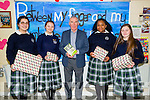 Launching Literature Week in The Presentation Secondary School Tralee on Monday and present awards to winners of the school Literature, Weeshie Fogarty renowned Arthur and broadcaster of Radio to Antonia Gergely,Julia Szarota,Precious Benjamin and Sasha Gaudino.