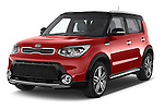 2015 KIA Soul Max 5 Door Hatchback angular front stock photos of front three quarter view
