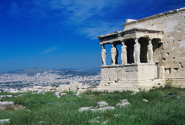 Porch of the Caryatids, Acropolis of Athens, Athen, Greece, April 1998