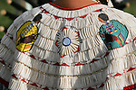 Detail of a dancers bead work that adorns her regalia.