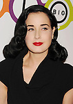 WEST HOLLYWOOD, CA - NOVEMBER 14: Dita Von Teese attends the opening of Kimberly Snyder's Glow Bio Juice Bar at Glow Bio on November 14, 2012 in West Hollywood, California.