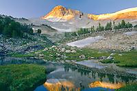 Eagle Cap Mountain at sunrise<br /> Eagle Cap Wilderness<br /> Wallowa-Whitman National Forest<br /> Wallowa Mountains,  Oregon