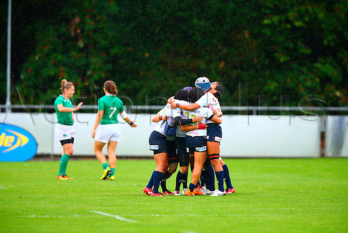 23.08.2015. Dublin, Ireland. Women's Sevens Series Qualifier 2015.  Japan versus Ireland.<br /> Japan celebrate winning the cup final.