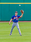5 March 2015: New York Mets outfielder Brandon Nimmo warms up prior to a Spring Training game against the Washington Nationals at Space Coast Stadium in Viera, Florida. The Mets fell to the Nationals after a late inning rally, dropping a 5-4 Grapefruit League game. Mandatory Credit: Ed Wolfstein Photo *** RAW (NEF) Image File Available ***