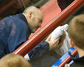 Tim Whitehead (Maine - Head Coach) - The University of Maine Black Bears defeated the Northeastern University Huskies 6-2 on Friday, November 13, 2009, at Matthews Arena in Boston, Massachusetts.