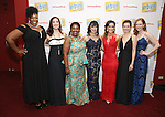 Aurelia Williams, Laurel Harris, Moya Angela, Mariand Torrez, Gerianne Perez, Margot Seibert and Erin Mackey attends the Broadway Opening Night Performance Press Reception for  'In Transit' at Circle in the Square Theatre on December 11, 2016 in New York City.