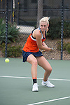 April 23, 2015; San Diego, CA, USA; Pepperdine Waves tennis player Matea Cutura during the WCC Tennis Championships at Barnes Tennis Center.