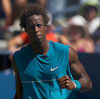 Gael Monfils (FRA) (13) against Jeremy Chardy (FRA) in the first round. Monfils beat Chardy 6-1 6-4 6-3..International Tennis - US Open - Day 3 Wed 02 Sep 2009 - USTA Billie Jean King National Tennis Center - Flushing - New York - USA ..© Frey, Advantage Media Network, Level 1, Barry House, 20-22 Worple Road, London, SW19 4DH +44 208 947 0100..
