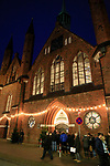 01.12.2019, Hansestadt Luebeck, GER,  Weihnachtsmarkt in der Luebecker Innenstadt<br /> <br /> im Bild / picture shows<br /> Heiligen Geist Hospital Eingang<br /> <br /> Foto © nordphoto / Tauchnitz
