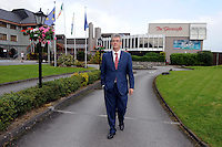 Patrick O'Donoghue, Managing Director, The Gleneagle Hotel, Killarney pictured outside his family hotel on Thursday.<br /> Picture by Don MacMonagle