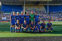 Seattle, WA - Friday June 23, 2017: Seattle Reign starting eleven during a regular season National Women's Soccer League  (NWSL) match between the Seattle Reign FC and FC Kansas City at Memorial Stadium.