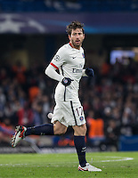 Maxwell of Paris Saint-Germain during the UEFA Champions League Round of 16 2nd leg match between Chelsea and PSG at Stamford Bridge, London, England on 9 March 2016. Photo by Andy Rowland.