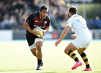 Mako Vunipola of Saracens in possession. Aviva Premiership match, between Saracens and Wasps on October 8, 2017 at Allianz Park in London, England. Photo by: Patrick Khachfe / JMP