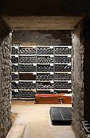 bottle cellar domaine comte senard aloxe-corton cote de beaune burgundy france
