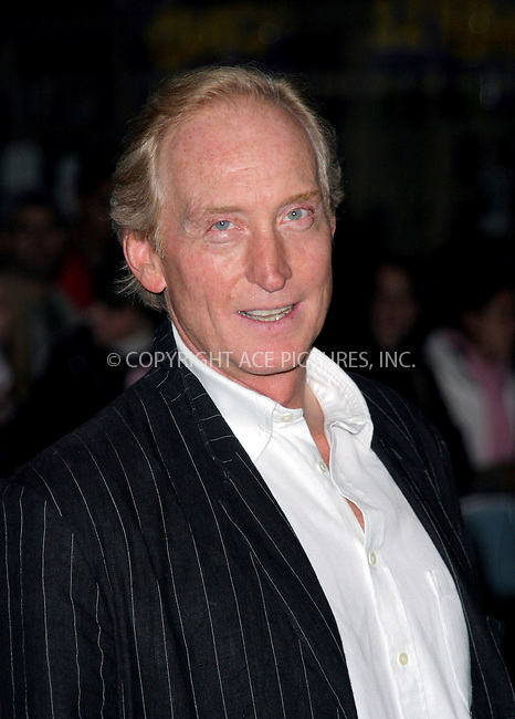 Charles Dance at the UK premiere of Layer Cake held at The Electric Cinema, London - 23 September 2004..FAMOUS PICTURES AND FEATURES AGENCY.tel  +44 (0) 20 7731 9333.fax +44 (0) 20 7731 9330.e-mail info@famous.uk.com.www.famous.uk.com.FAM13601