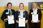 Girls Cycling finalists Alice Ross, Sarah Gilkison & Emily Collins. ASB College Sport Young Sportperson of the Year Awards 2007 held at Eden Park on November 15th, 2007.