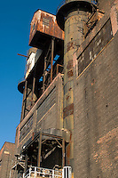 Williamsburg, Brooklyn - 19 October 2008 - Open House at Domino Sugar in Williamsburg. Refinery, LLC, the developer who plans to convert the landmarked refinery into residential units, invited everyone over for free refreshments and a chance to take in the East River views and see proposals for the Williamsburg section of Brooklyn Waterfront Greenway.
