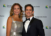Andy Blankenbuehler and his wife, Elly, arrive for the formal Artist's Dinner honoring the recipients of the 41st Annual Kennedy Center Honors hosted by United States Deputy Secretary of State John J. Sullivan at the US Department of State in Washington, D.C. on Saturday, December 1, 2018. The 2018 honorees are: singer and actress Cher; composer and pianist Philip Glass; Country music entertainer Reba McEntire; and jazz saxophonist and composer Wayne Shorter. This year, the co-creators of Hamilton, writer and actor Lin-Manuel Miranda, director Thomas Kail, choreographer Andy Blankenbuehler, and music director Alex Lacamoire will receive a unique Kennedy Center Honors as trailblazing creators of a transformative work that defies category.<br /> Credit: Ron Sachs / Pool via CNP