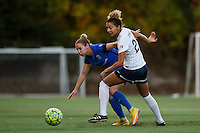 Seattle, Washington -  Sunday, September 11 2016: Seattle Reign FC forward Manon Melis (14) and Washington Spirit defender Estelle Johnson (24) during a regular season National Women's Soccer League (NWSL) match between the Seattle Reign FC and the Washington Spirit at Memorial Stadium. Seattle won 2-0.