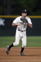 March 13, 2010:  Third Baseman Andy Megee (2) of the Yale Bulldogs vs. the Akron Zips in a game at Henley Field in Lakeland, FL.  Photo By Mike Janes/Four Seam Images