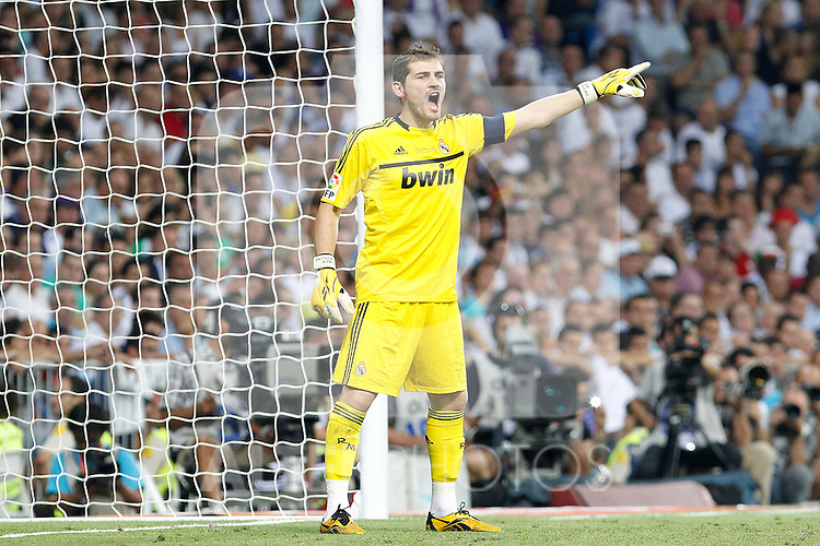 Real Madrid's Iker Casillas during Spanish Supercup 1st match.August 14,2011. (ALTERPHOTOS/Acero)