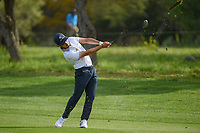 Abraham Ancer (MEX) hits his approach shot on 1 during day 2 of the Valero Texas Open, at the TPC San Antonio Oaks Course, San Antonio, Texas, USA. 4/5/2019.<br /> Picture: Golffile | Ken Murray<br /> <br /> <br /> All photo usage must carry mandatory copyright credit (© Golffile | Ken Murray)