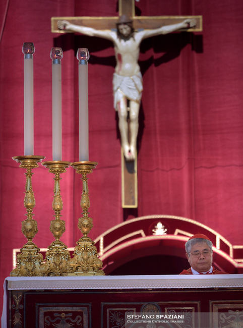 Japanese Thomas Aquino Manyo Maeda Archbishop of Osaka.Pope Francis during the solemn mass to celebrate the feast of Saint Peter and Saint Paul with the new Cardinals and the new Metropolitan Archbishops on June 29, 2018 in Saint Peter's square at the Vatican.