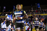 Semesa Rokoduguni and the rest of the Bath Rugby team run out onto the field for the second half. Aviva Premiership match, between Bath Rugby and Newcastle Falcons on March 18, 2016 at the Recreation Ground in Bath, England. Photo by: Patrick Khachfe / Onside Images