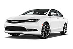 Stock pictures of low aggressive front three quarter view of a 2015 Chrysler 200 S 4 Door Sedan 2WD Low Aggressive