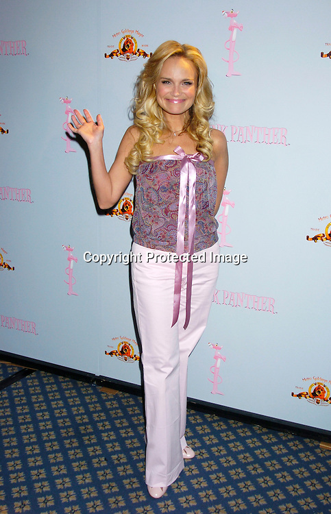 Kristin Chenoweth..at the Pink Panther start of Production Press Conference on May 7, 2004 at the Waldorf Astoria Hotel.                    Photo by Robin Platzer, Twin Images