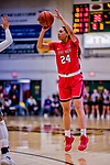 26 January 2019: Stony Brook Seawolves Guard/Forward Hailey Zeise, a Sophomore from Pittsburgh, PA, in action against the University of Vermont Catamounts at Patrick Gymnasium in Burlington, Vermont. The Lady Seawolves defeated the Lady Catamounts 67-61 in America East Women's Basketball. Mandatory Credit: Ed Wolfstein Photo *** RAW (NEF) Image File Available ***