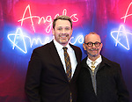 """Michael Arden and Joel Grey attends the Broadway Opening Night Arrivals for """"Angels In America"""" - Part One and Part Two at the Neil Simon Theatre on March 25, 2018 in New York City."""