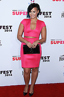 SANTA MONICA, CA, USA - OCTOBER 08: Demi Lovato arrives at the Vevo CERTIFIED SuperFanFest held at Barkar Hangar on October 8, 2014 in Santa Monica, California, United States. (Photo by David Acosta/Celebrity Monitor)